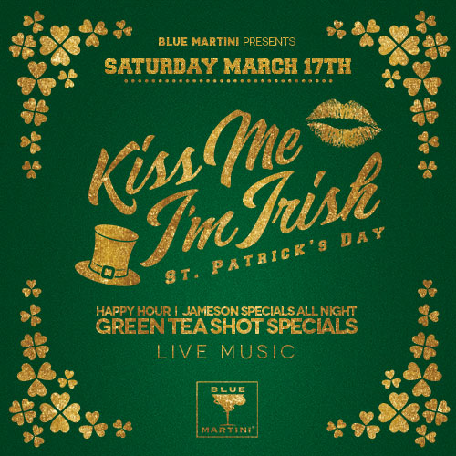 Blue Martini Goes Green for St. Patty's Day